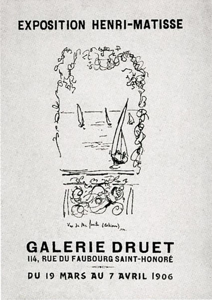 Affiche exposition Henri Matisse 1906 Galerie Druet, Paris
