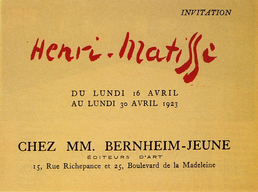 1923 Bernheim Paris - Carton d'invitation
