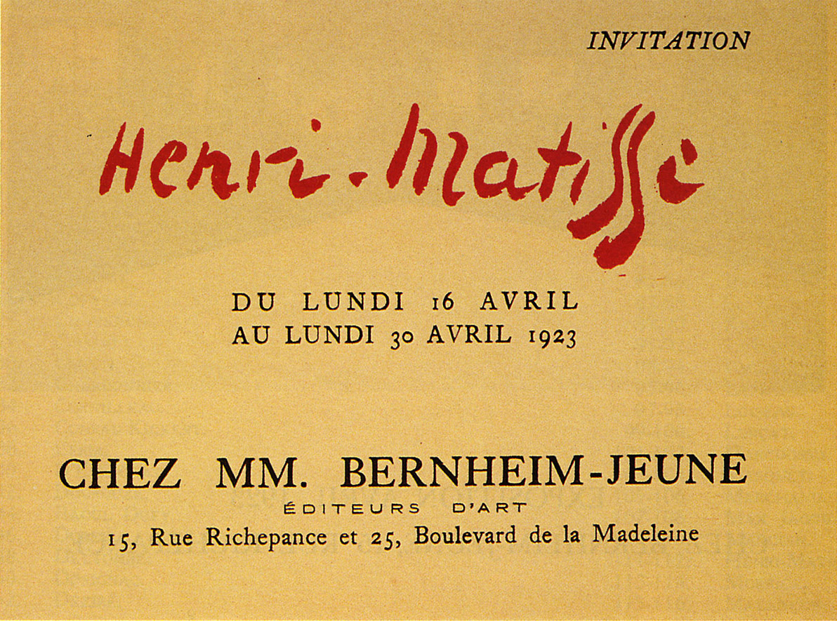 1923 Bernheim Paris - Carton d'invitation