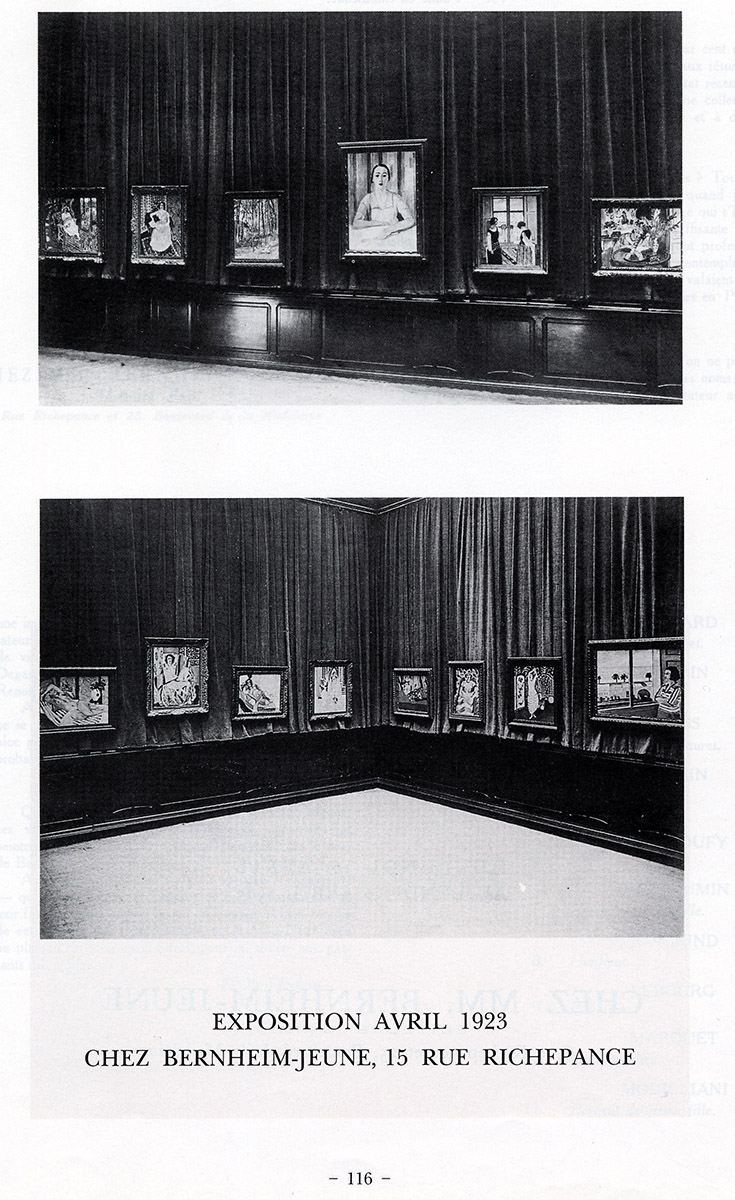 1923 Bernheim Paris - Photo de l'exposition