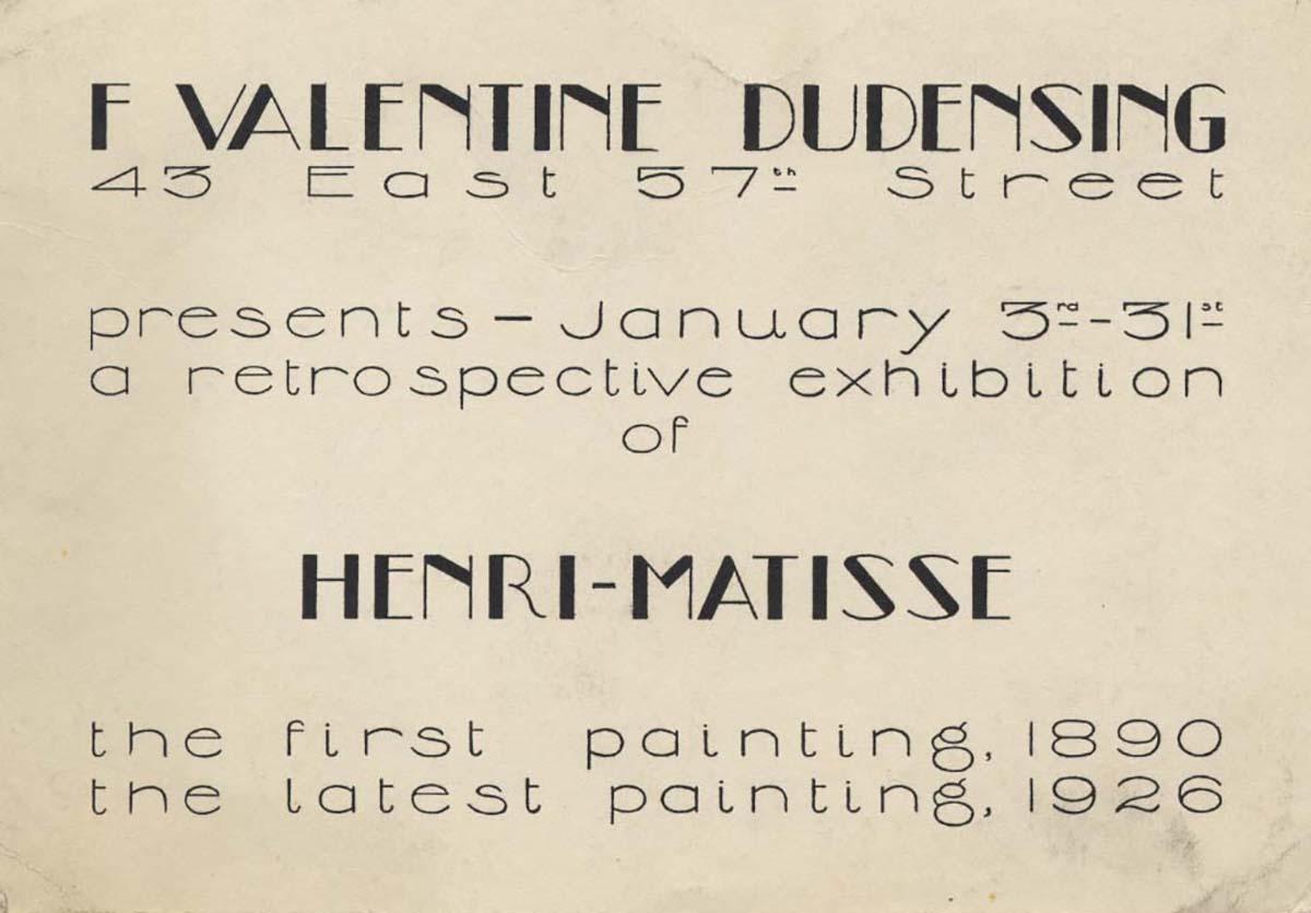 1927 Valentine Dudensing New York