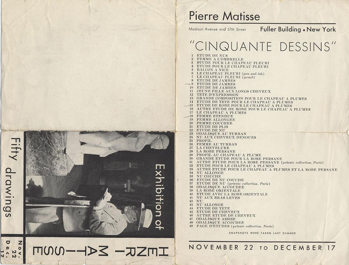 1932 Pierre Matisse Gallery New-York