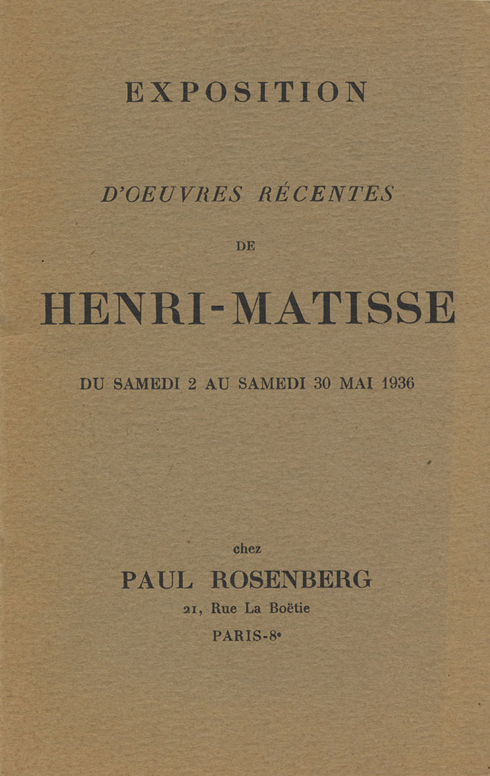 1936 Rosenberg Paris - couverture