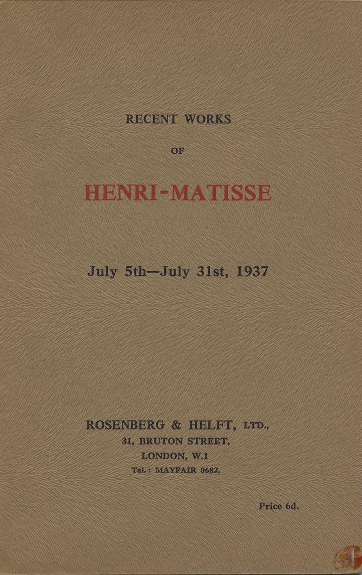 1937 Rosenberg Londres - couverture