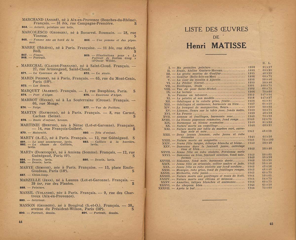 1945 Salon d'automne - Page interieure