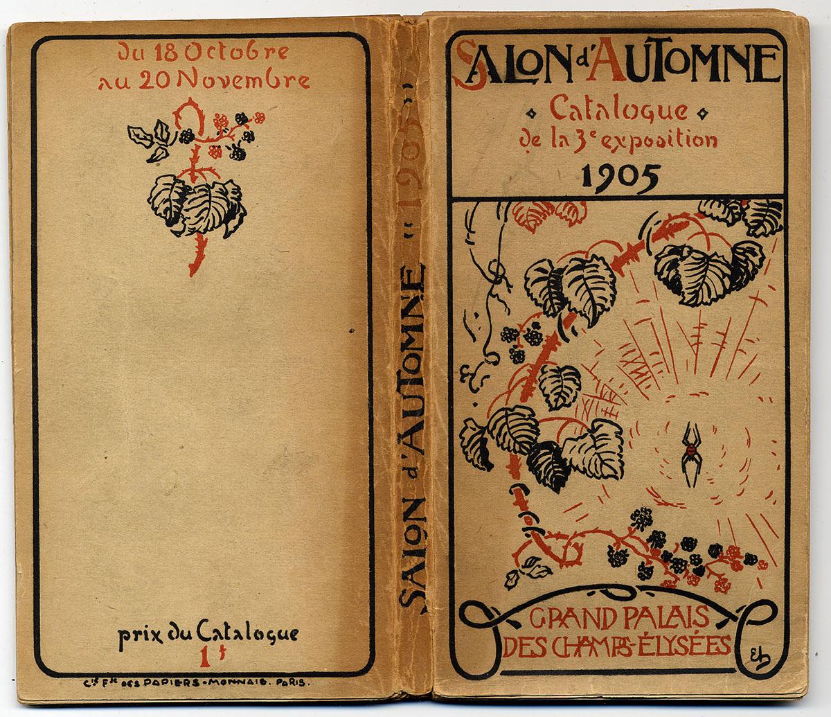 couverture du catalogue d'exposition salon d'automne