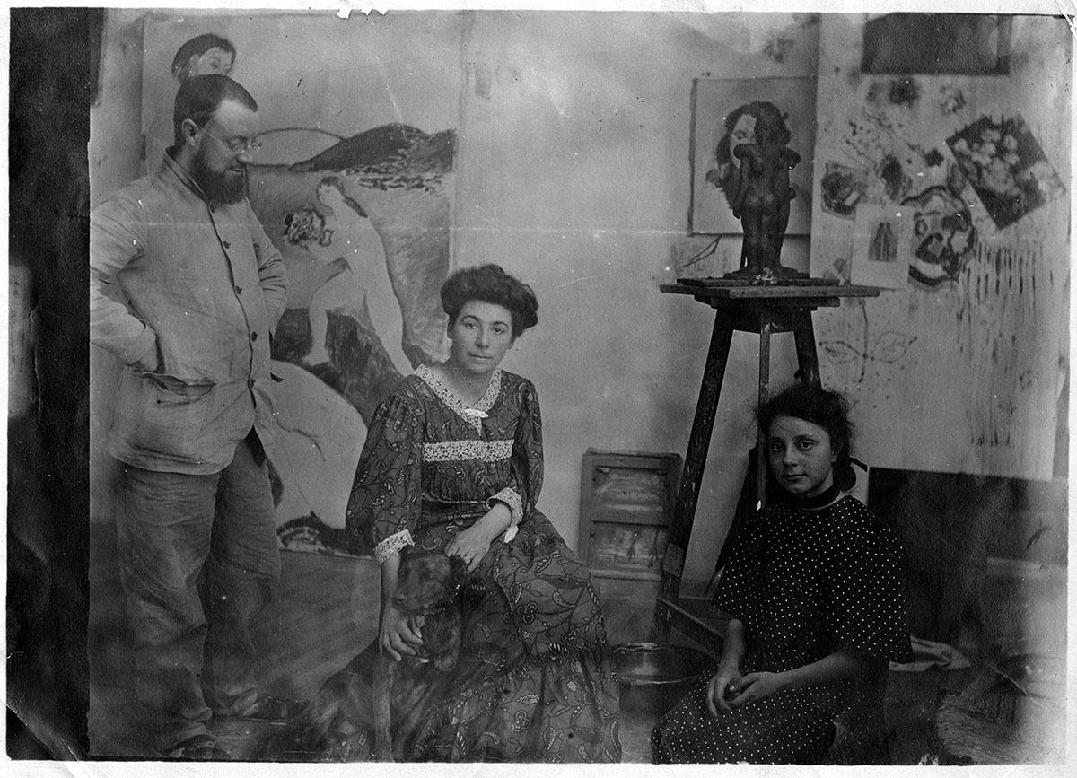 Henri Matisse, sa femme Amélie et leur fille Marguerite