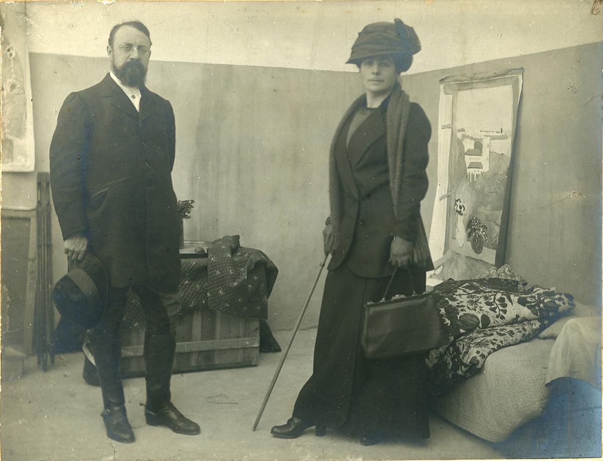 Henri Matisse et sa femme Amélie, Hôtel Villa de France, Tanger, 1912