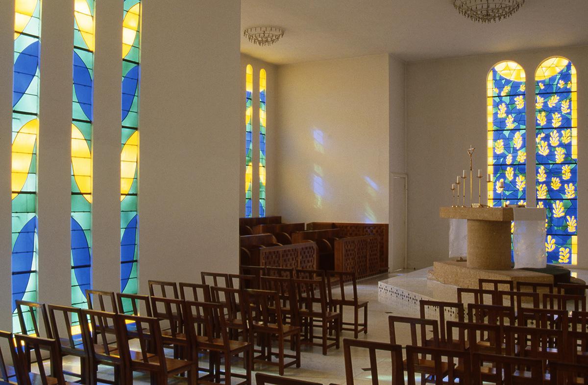 Vue intérieure : Chapelle du Rosaire des Dominicaines de Vence