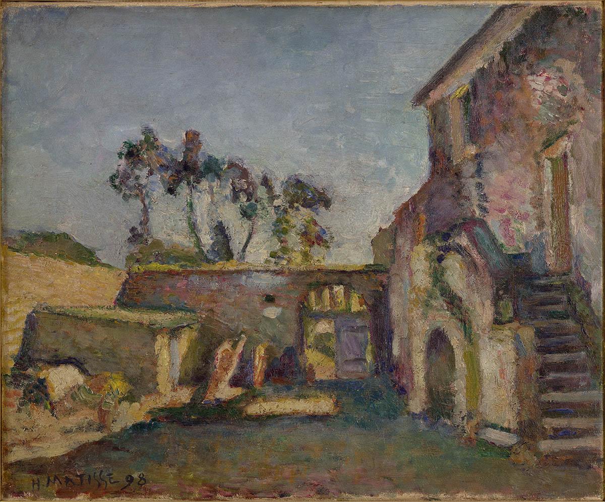 La cour du moulin à Ajaccio, Ajaccio, 1898, huile sur toile