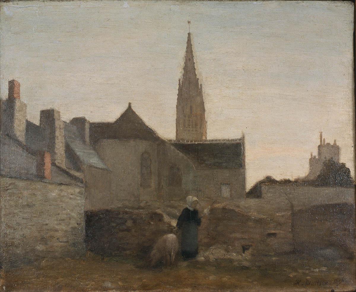 """""""Village en Bretagne"""", 1895, huile sur toile"""