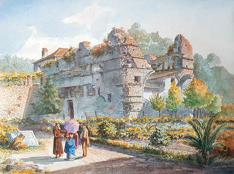Antoine Trachel Ruines des thermes romains à Cimiez