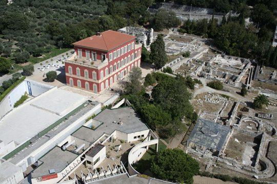Musée Matisse, Nice - Façade ouest et sud du musée, musée d'Archéologie Nice-Cemenelum