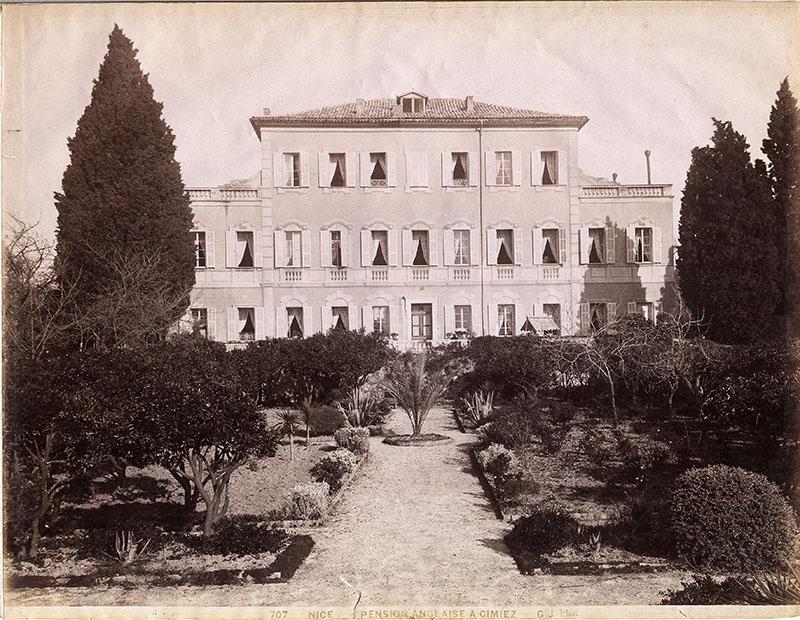 Jean Gilletta, Nice. Pension Anglaise à Cimiez, photographie, coll. Bibliothèque du Chevalier de Cessole, Nice
