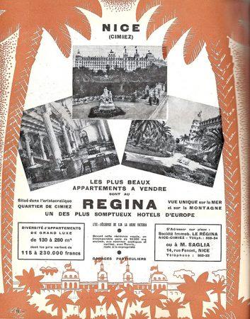 Vente du Régina, affiche de Jean Cassarini, 1937
