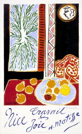 Affiche crée par Henri Matisse pour l'Union Méditerranéenne pour l'Art Moderne (UMAM) et la promotion de la ville de Nice, 1949