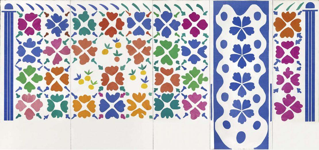 Fleurs et fruits, Nice, 1952-1953, papiers gouachés découpés