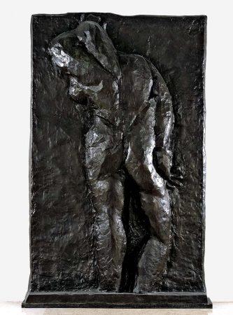 Dos II, Issy-les-Moulineaux, 1913, bronze, fonte à la cire perdue, patine brune