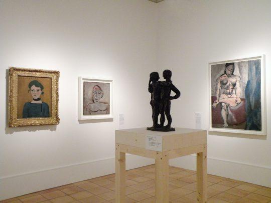 Vue de l'exposition Matisse et Picasso, La comédie du modèle