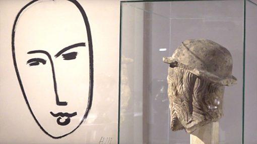 Capture de la vidéo de la visite de l'exposition Matisse Métamorphoses