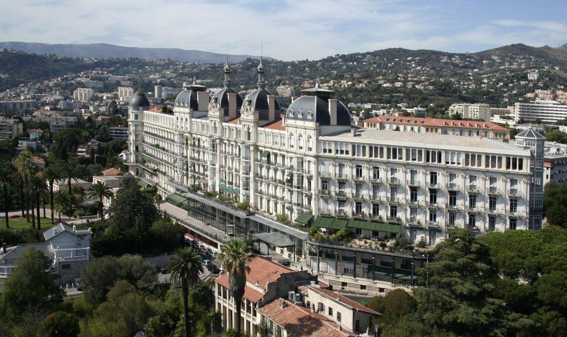 Le Régina, Nice - Façade sud et est, vue semi-aérienne