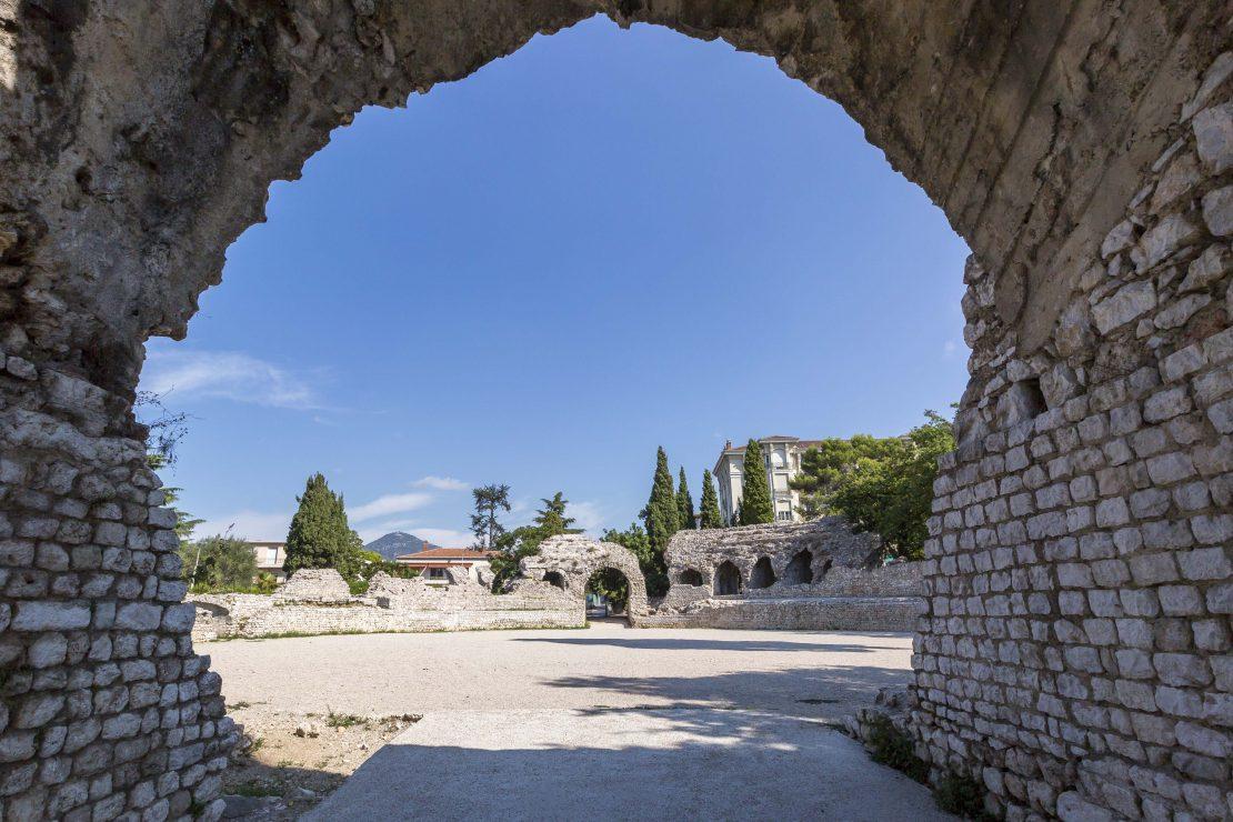 Vue des Arènes de Cimiez à Nice