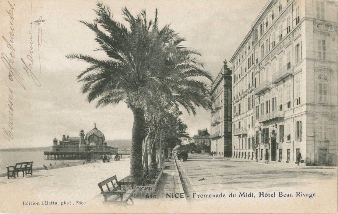Jean Gilletta, Hôtel Beau Rivage, Nice, carte postale, Coll. particulière