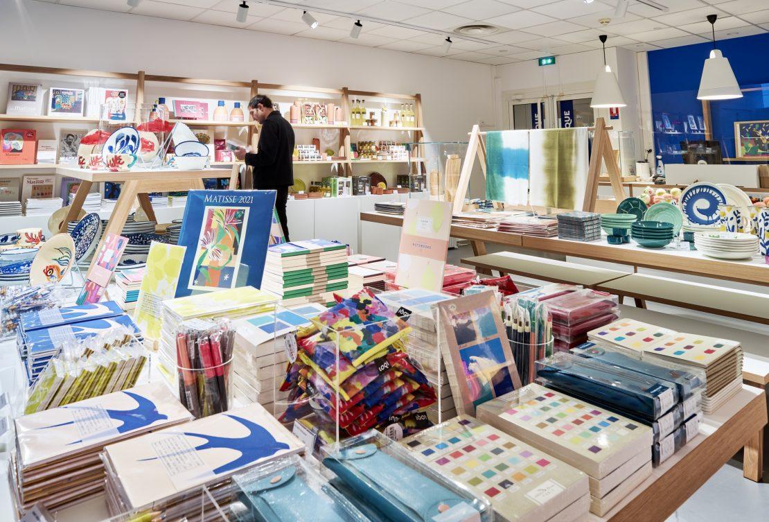 Photo de la boutique du musée Matisse de Nice