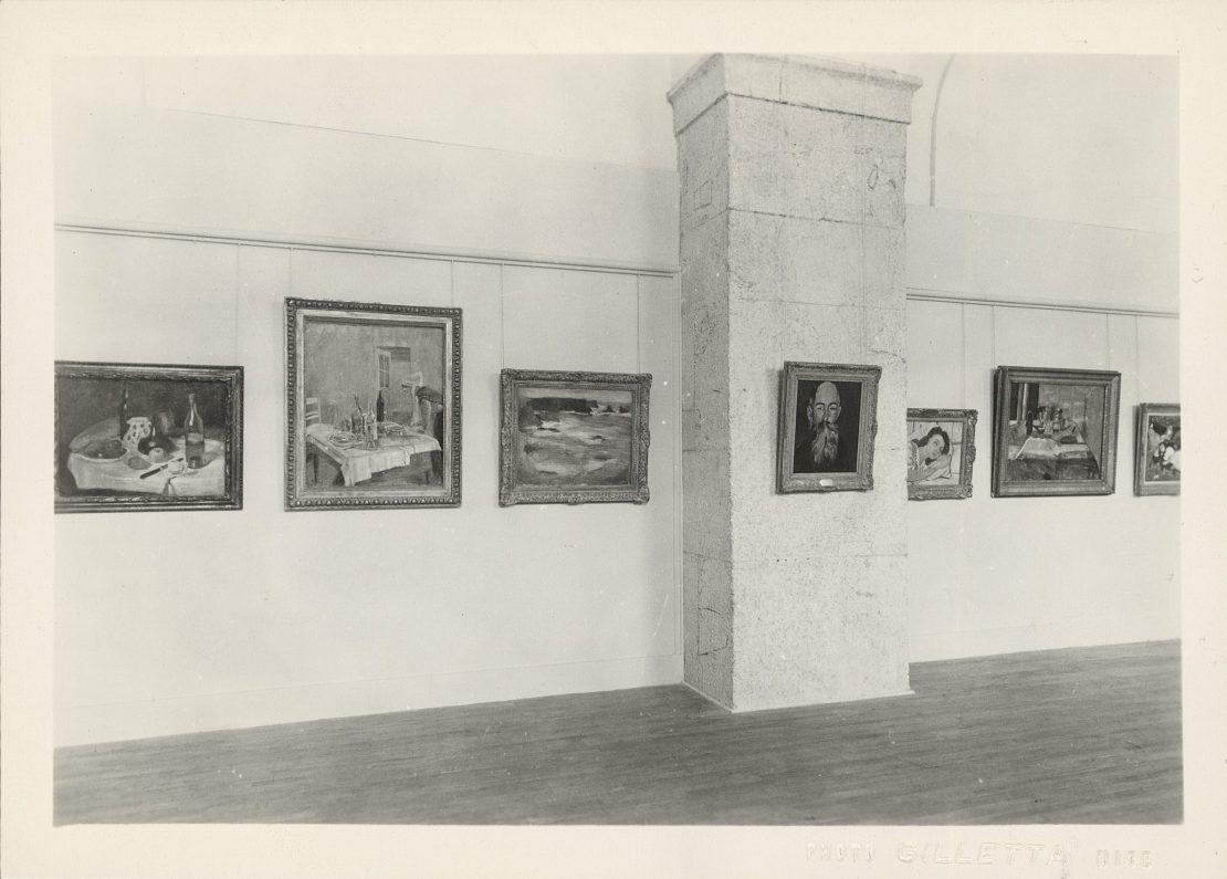 """Vue de l'exposition """"Henri Matisse"""" à la galerie des Ponchettes, 1950"""